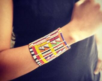 African Wristband, Masai Wristband, Masai Bracelet, Maasai Bracelet, African Bracelet,