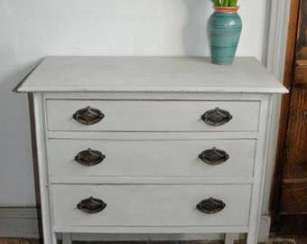 Painted Edwardian Chest of drawers,Gustavian grey