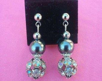 Rhinestone, hemalyke earrings