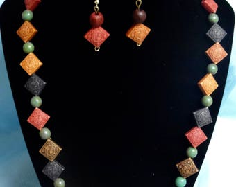 candy triangle necklace
