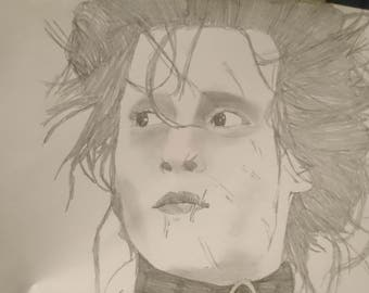 Drawing of Edward Scissorhands