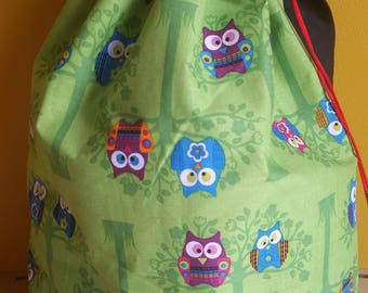 Owl Do Anything For You (monster sized project bag)