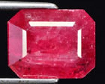 Gemma rhodonite ct 5.03 octagonal-cut Garnet colour brazils backgrounds