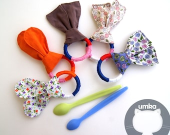 Teether. Teething toy for baby Crochet teether Baby teether Soft teether Teething ring Baby chew toys Teether gift set Cotton teether