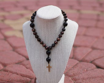 Anglican Prayer Beads + Black/Gold