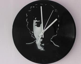 Bob Dylan Vinyl Record Wall Clock Handmade