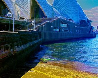 LARGE Sands of the Opera House A3 print - Digital Art