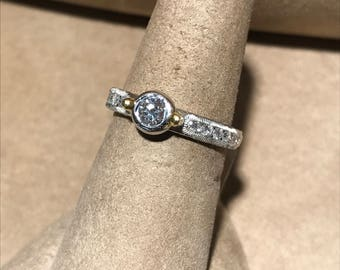 Platinum & 18Kt. Diamond Ring