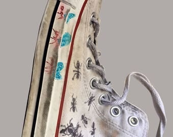 hand painted converse shoe