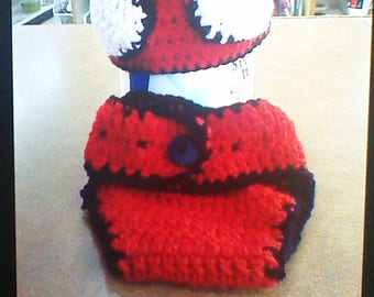 Spiderman Diaper cover and Hat