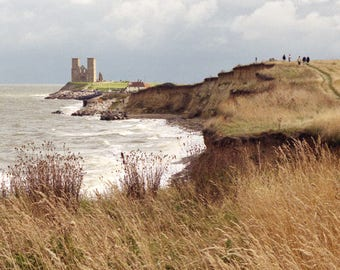 Reculver Towers, Fine Art Blank Photographic Greetings Card & Print