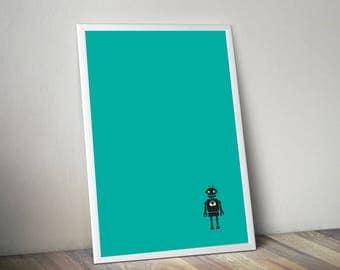 8 x 10 Green Robot