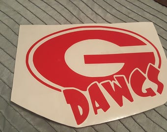 Georgia Bulldogs Vinyl Decal UGA