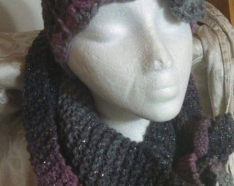 Beanie Hat & Opened/Closed Scarf Sets