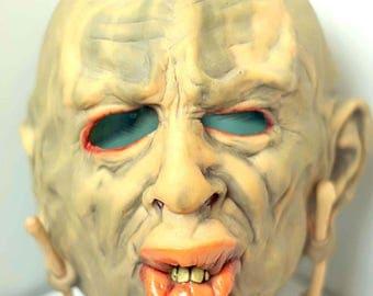 Cannibal scary mask Latex Aboriginal mask Halloween mask Creepy mask