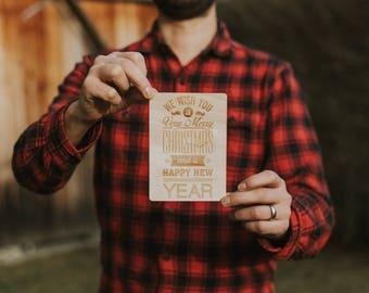 """Wood card """"Christmas"""""""