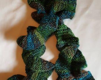 Beautifully Knitted Ruffle Scarf