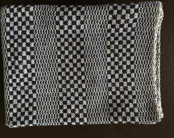 Navy & White Handwoven Dish Towel