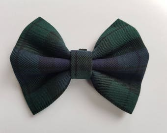 Green and Blue Tartan Bow Tie