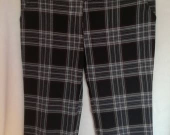Capri Pants/ Checkered Pants/ Spring Shorts/ Scottish Style Pants/ Size US 10