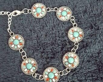 Silver southwestern style bracelet
