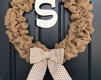 Customizable Burlap Wreaths