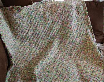 Multicolor crochet blanket