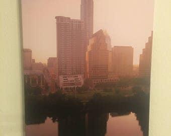 "Austin Sunrise Canvas Print - 22"" x 33"""