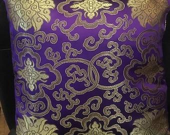 Throw Pillow, Gold, Purple, Royal, Home Decor