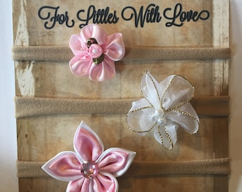 BOWS - Pink and White
