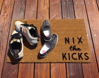 Nix The Kicks Door Mat (doormat)   Lets Your Guests Know To Take Off