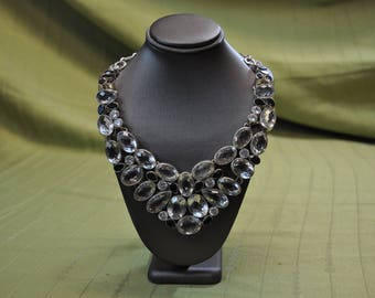 Vintage 925 Silver Bib Necklace