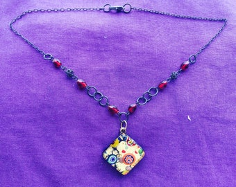 Necklace with a pendant from Murano glas-art