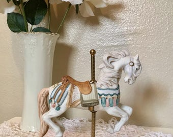 Beautiful Vintage Porcelain Carousel Horse