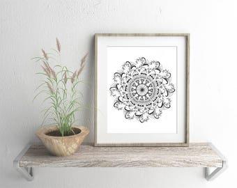 Beautiful Inspirational Mandala Artwork - Giclee Fine Art Print