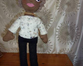 "Hand Knitted ""Babe"" doll, 22 inches ""Ann"""