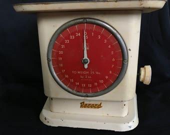 Vintage Effem Record 25 lb Kitchen Scale - German Antique
