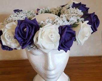 Foam flower headdress