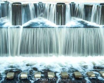 Waterfall Photo Long Exposure Geometric