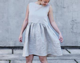 Women's linen dress sleeveless