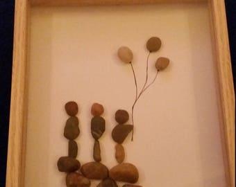 Pebble art 'family'
