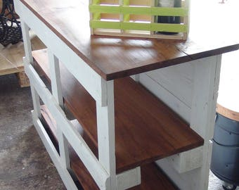 kitchen furniture, mini bar wooden pallets and Elm