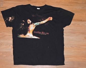 Very Rare vintage marilyn manson guns god and government tour shirt!