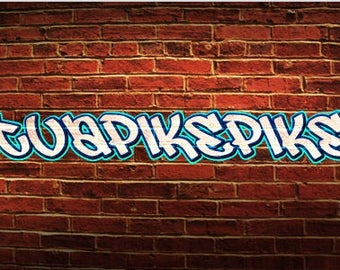 brick backround custom name art