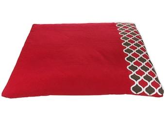 Organic | Zabuton | Meditation mat | Recycled cotton | basaho Red Mat