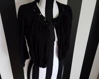 Vintage Beaded Black shrug