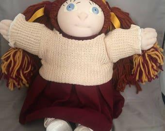 Handmade girl cloth doll