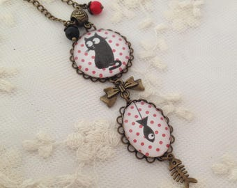 Jack cameo necklace red moles.