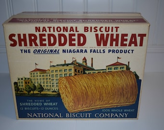 National Biscuit Shredded Wheat Display Box