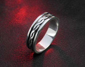 Celtic wedding band, celtic band, celtic ring, knot band,braided ring, celtic wedding ring, silver wedding ring,braided wedding ring